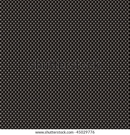 Black carbon weave background with seamless tile background - stock vector