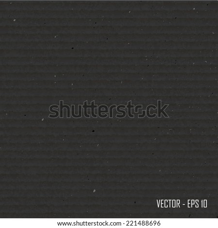 Black cardboard  texture.Vector illustration.  - stock vector