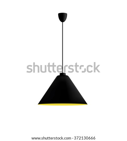 Black ceiling lamp. - stock vector