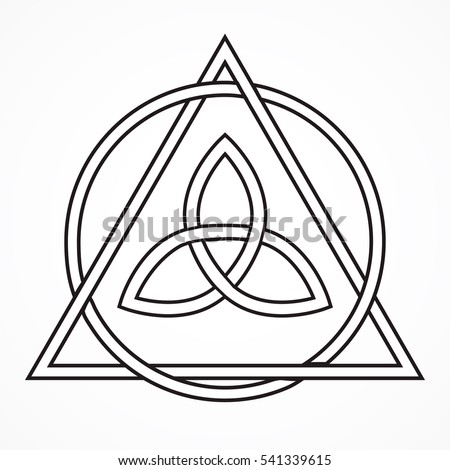 Black Celtic Trinity Knot Circle Triangle Stock Vector Royalty Free