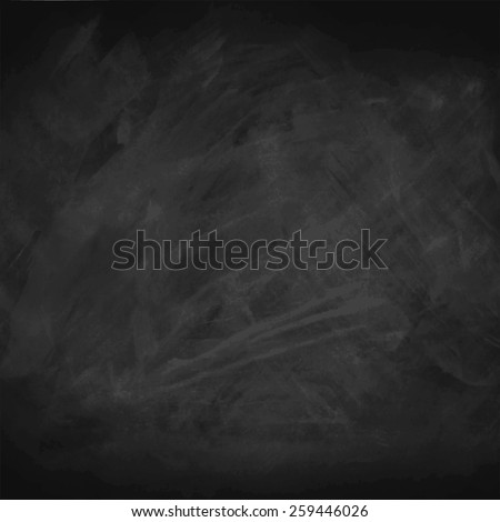 Black chalkboard background.Vector illustration. - stock vector