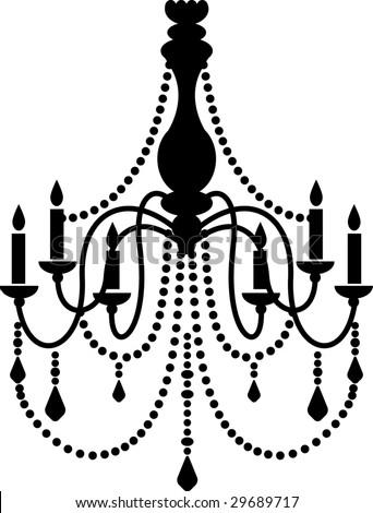 Black chandelier vector de stock29689717 shutterstock black chandelier aloadofball Choice Image