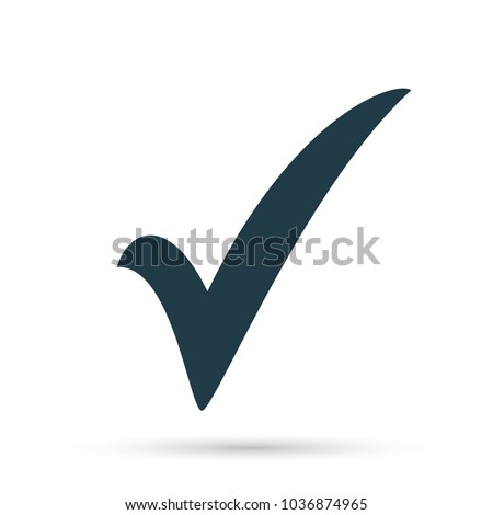 Black Check Mark Icon Tick Symbol Stockvector 1036874965 Shutterstock