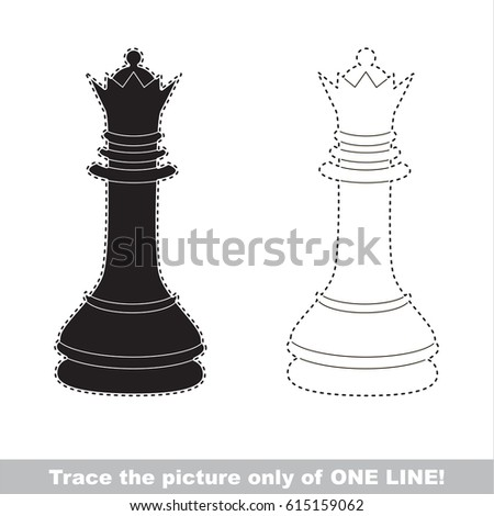 Black chess queen dot dot educational stock vector royalty free black chess queen dot to dot educational game for kids altavistaventures Image collections