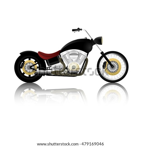Black chopper on white background.(EPS10 art vector)