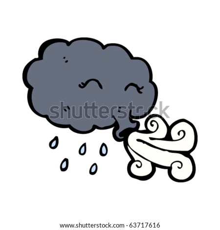 Cartoon Cloud Blowing Wind Stock Vector 118937635 - Shutterstock