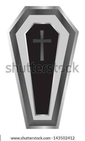 Black Coffin Vector Illustration. - stock vector