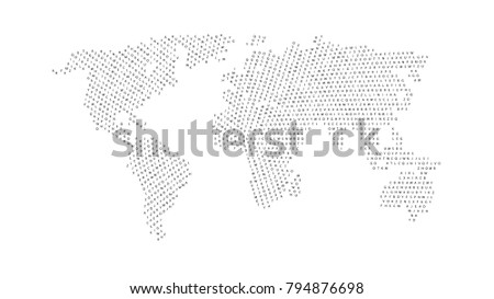 Black color world map isolated on vectores en stock 794876698 black color world map isolated on white background abstract flat template with letters for web gumiabroncs Images