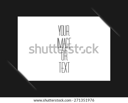 Black composite album page - stock vector