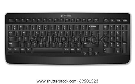 Black computer keyboard - stock vector