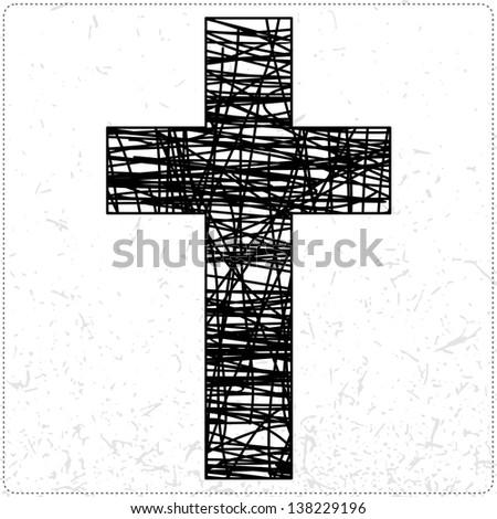 Black cross - stock vector