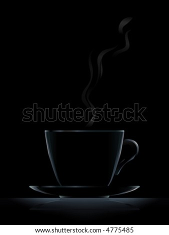 "Black cup with black coffee on black background (another version ""White Coffee Cup"" is in my gallery)"