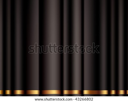 Black Curtain, vector - stock vector