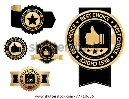 black design elements - best choice - stock vector