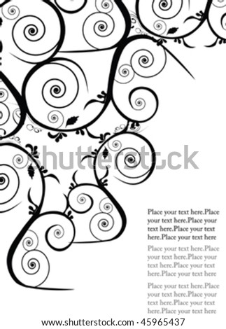 black design ornament with place for text - stock vector