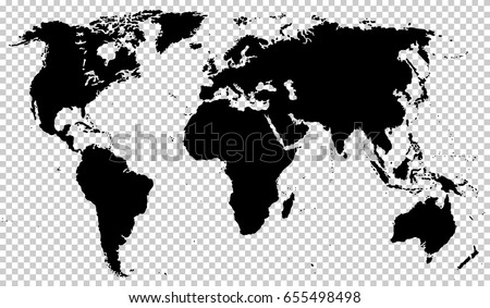 Black detailed world map isolated on vector de stock655498498 black detailed world map isolated on transparent background vector eps10 gumiabroncs Image collections