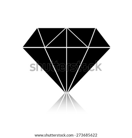 Black diamond icon