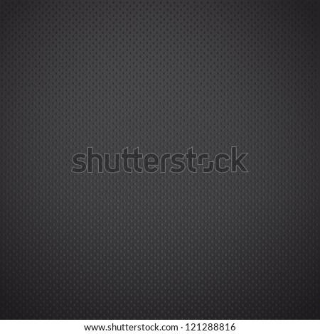 Black dots in iron background. Vector design. - stock vector