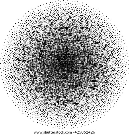 black dotted geometric modern vector pattern