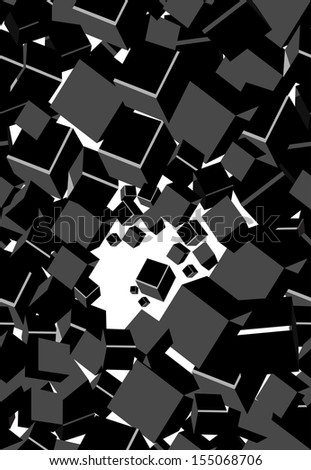 Black elegant seamless background with cubes
