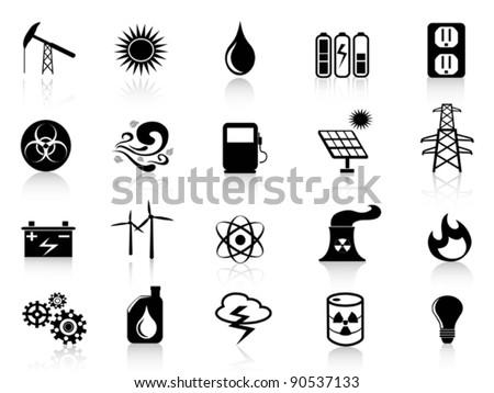 black energy icon - stock vector