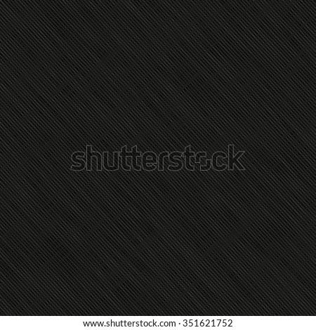 Black fabric texture. Vector illustration of realistic linen texture - stock vector
