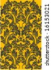 black floral pattern - stock vector