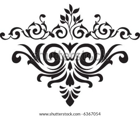 Black flower design for any purpose - stock vector