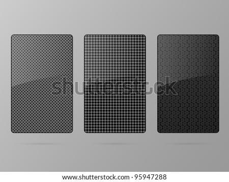 Black framework set. Vector illustration. - stock vector