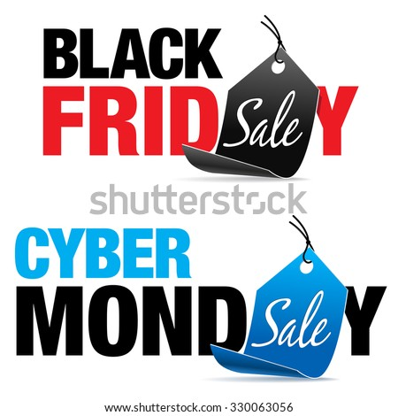 Black Friday and Cyber Monday Sale - stock vector