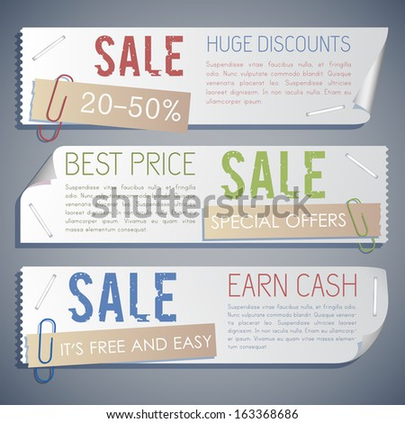 black friday banners set. Vector Illustration, eps10, contains transparencies. - stock vector