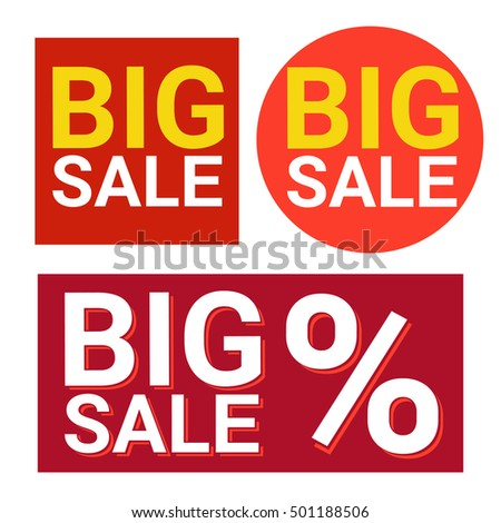 Black Friday Big Sale Icon Holiday Shopping Banner Vector Illustration