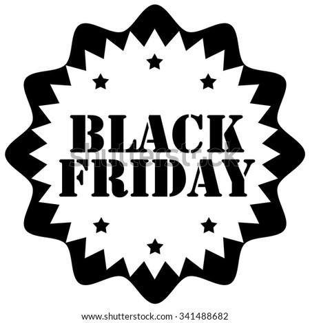 Black Friday rubber stamp,vector illustration - stock vector