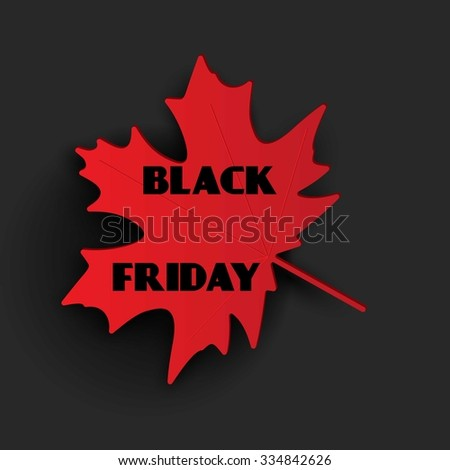 Black Friday sale background. - stock vector