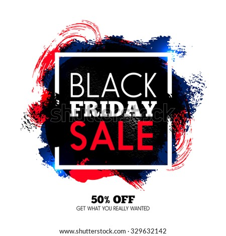 Black Friday sale background. Vector illustration - stock vector