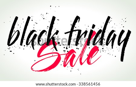Black Friday Sale calligraphy banner. Hand written letters. Vector illustration. - stock vector