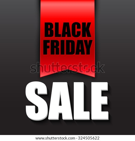 Black friday sale design template. Vector illustration EPS 10 - stock vector