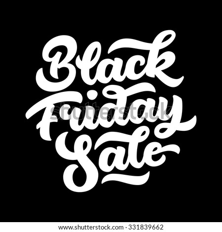 Black Friday Sale handmade lettering, calligraphy with dark background for logo, banners, labels, badges, prints, posters, web, presentation. Vector illustration. - stock vector