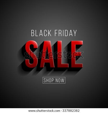 Black Friday sale illustration. Modern style vector design template. - stock vector