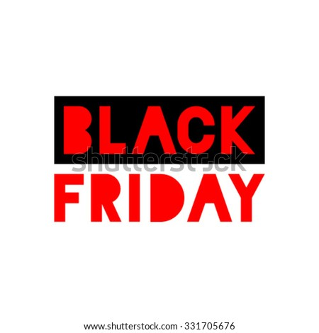 Black Friday Sale red icon, vector illustration