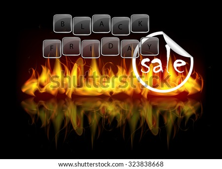 Black Friday Sale Theme Beautiful Vector Stock Vector 323838668