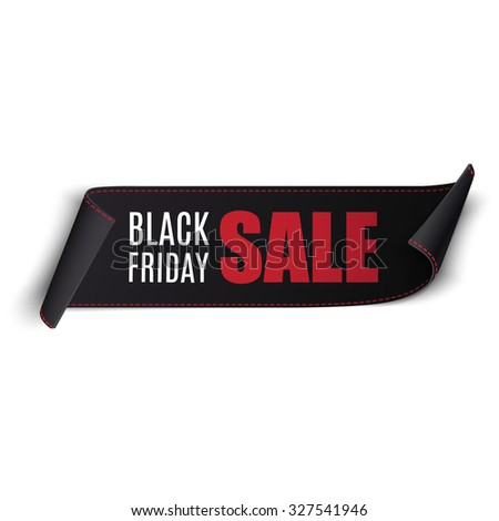 Black friday sale vector banner. Eps10 - stock vector