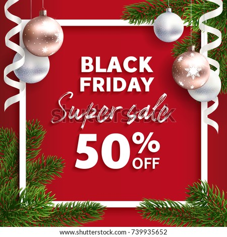 Black Friday Sale Vector Flyer Template Stock Vector 739935652