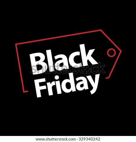 black friday sale vector template  - stock vector