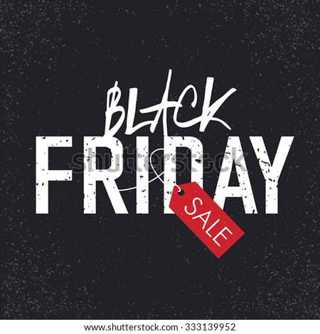 Black Friday sales Advertising Poster with Christmas trees silhouettes. Christmas sale - stock vector