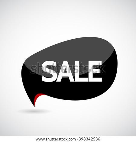 Black Friday sales tag. EPS 10 vector - stock vector