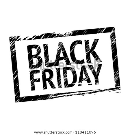 Black Friday Stamp - stock vector