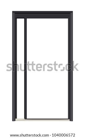 Black Front Door Frame Stock Vector 1040006572 - Shutterstock