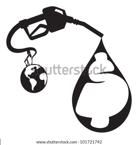Black Gas Problem - stock vector