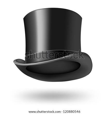 black gentleman hat - stock vector